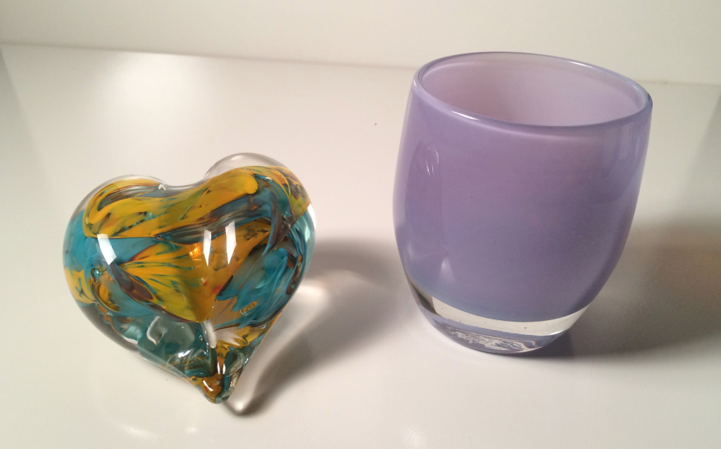 glassybaby heart and grammy