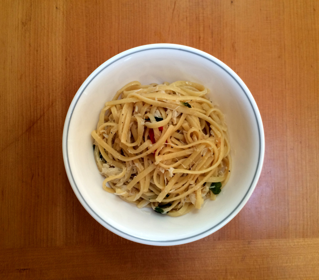 Linguine With Crab, Lemon, Chile, And Mint Recipe — Dishmaps