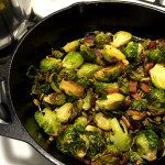 roasted brussel sprouts with toasted pepitas and candied bacon | sweetsaltcrunch